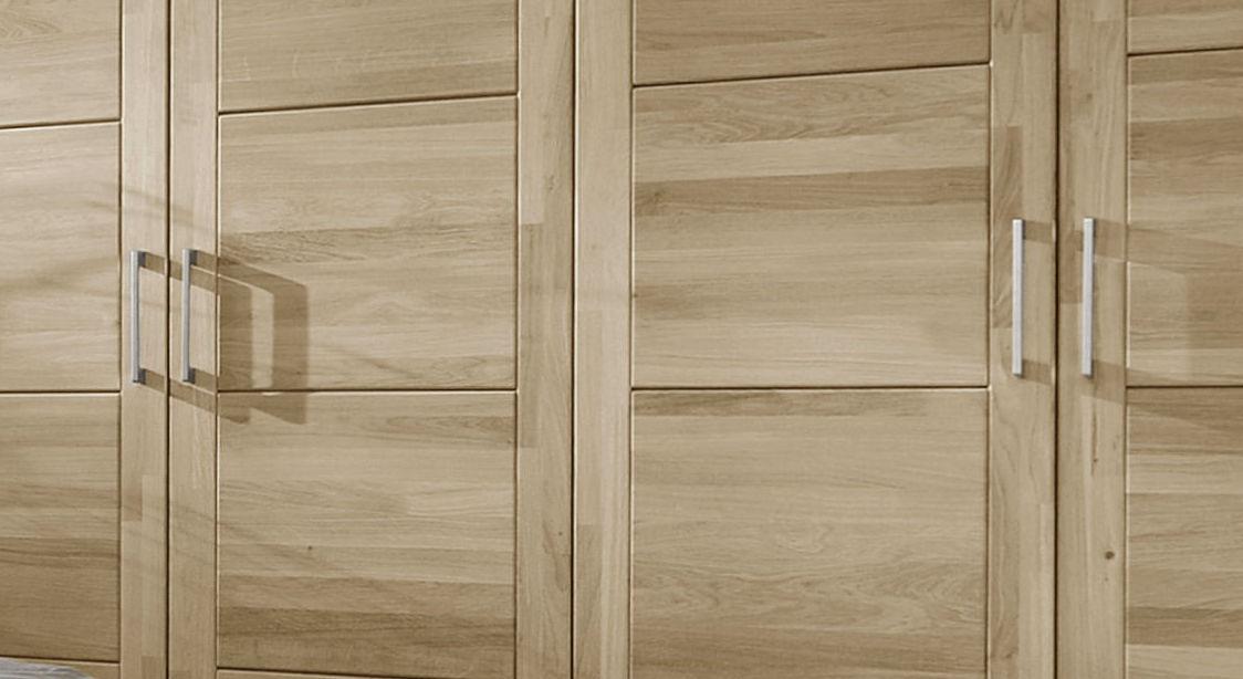 Rustikaler Kleiderschrank Nino mit massiven Drehtüren