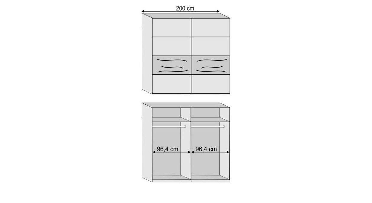 Grafik zur Inneneinteilung des Kleiderschranks Seabrook