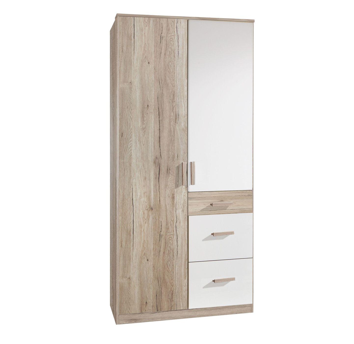 jugend kleiderschrank mit schubladen in zwei breiten tropea. Black Bedroom Furniture Sets. Home Design Ideas