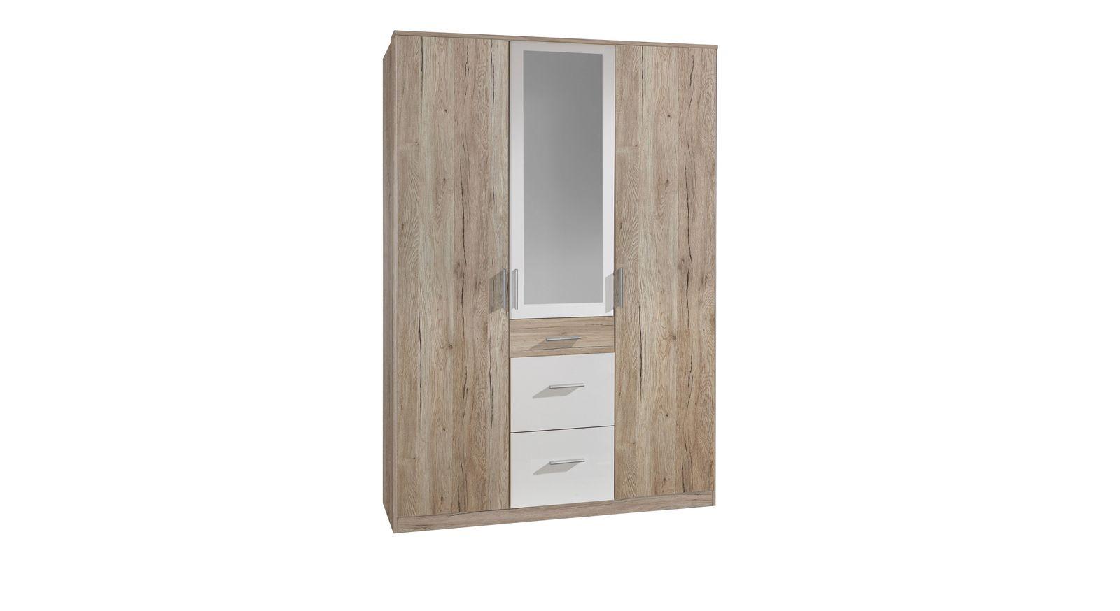 Spiegel-Kleiderschrank Zagra mit drei Türen