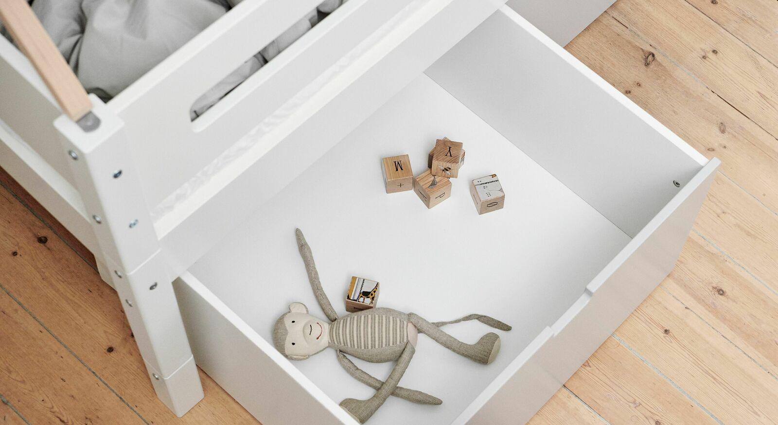 Kojen-Hausbett und Kojenbett Kids Town mit praktischer Schublade
