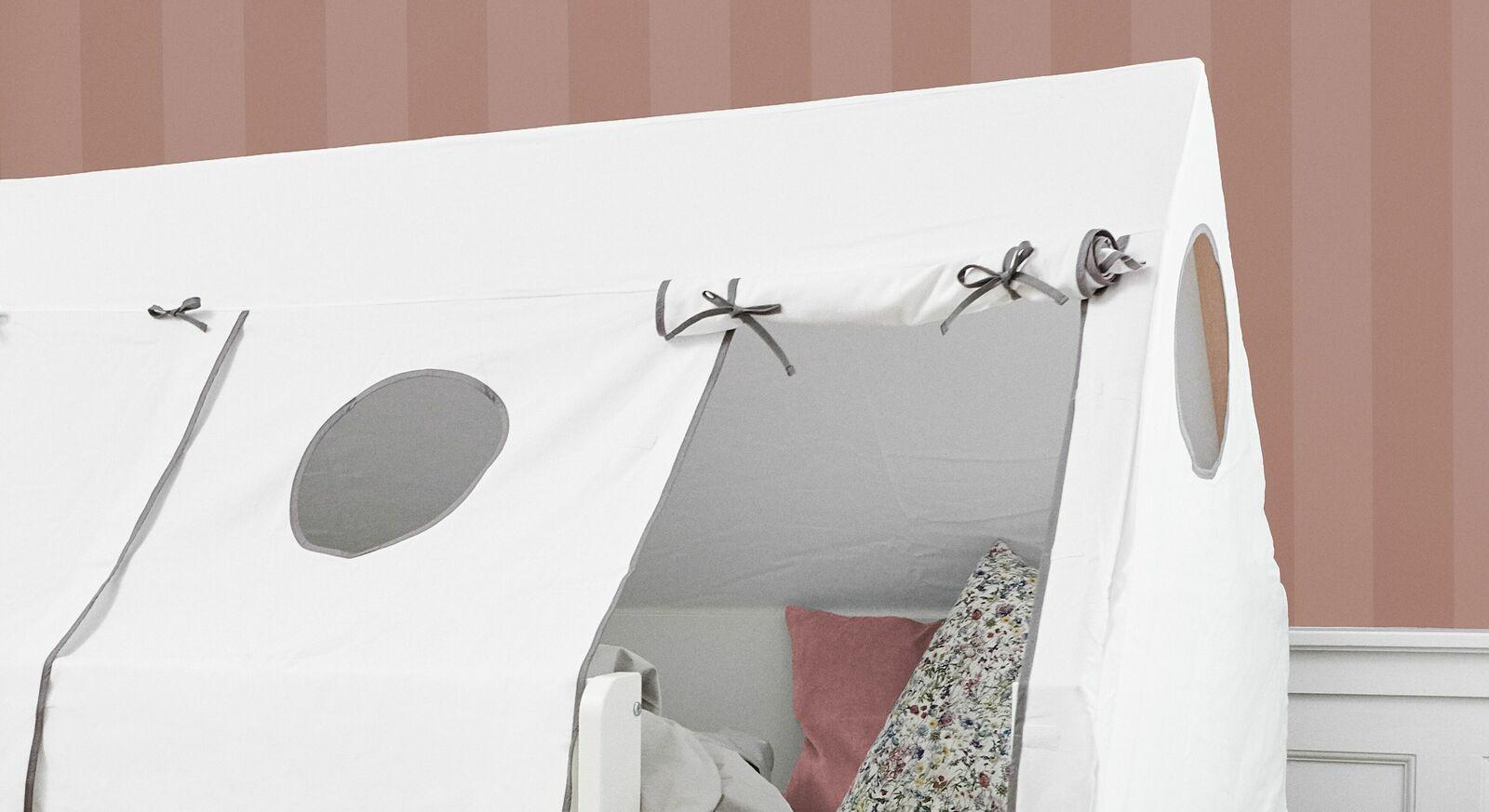Kojenbett Kids Town Tipis Zeltaufsatz mit Fenstern und Rolltüren
