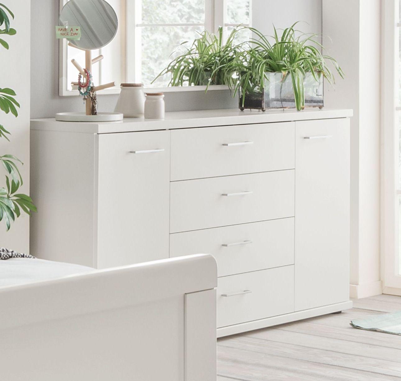 kommode f r das schlafzimmer mit schubladen und t r calimera. Black Bedroom Furniture Sets. Home Design Ideas