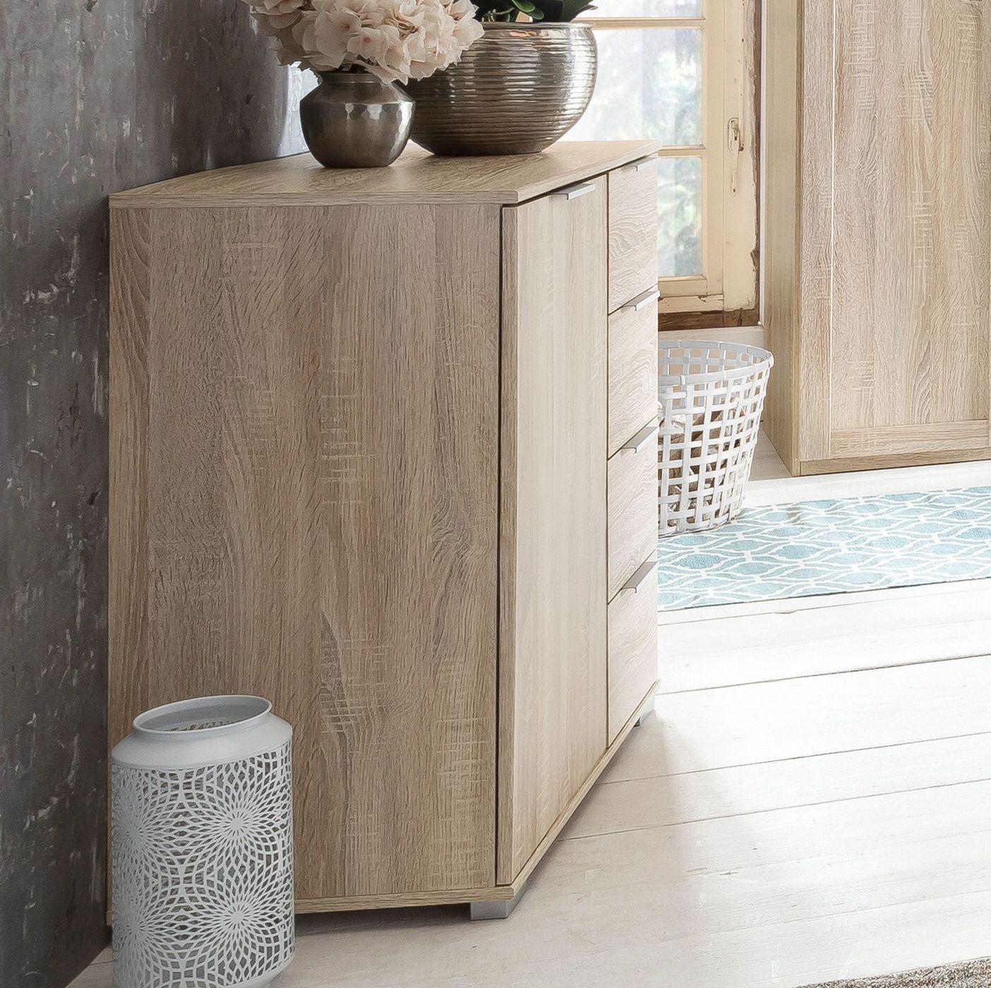Wasche Kommode Mit Schubladen In Eiche Holznachbildung Sinello