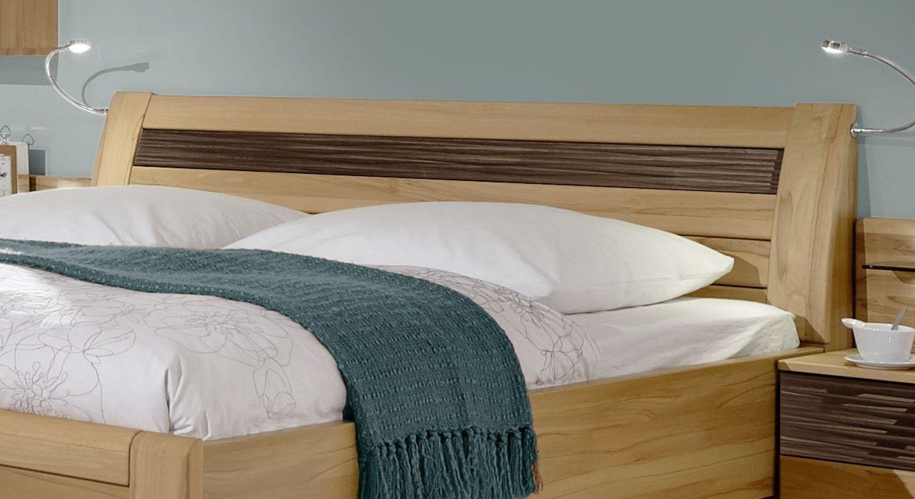 Komfort-Doppelbett Burbia mit gerundetem Kopfteil