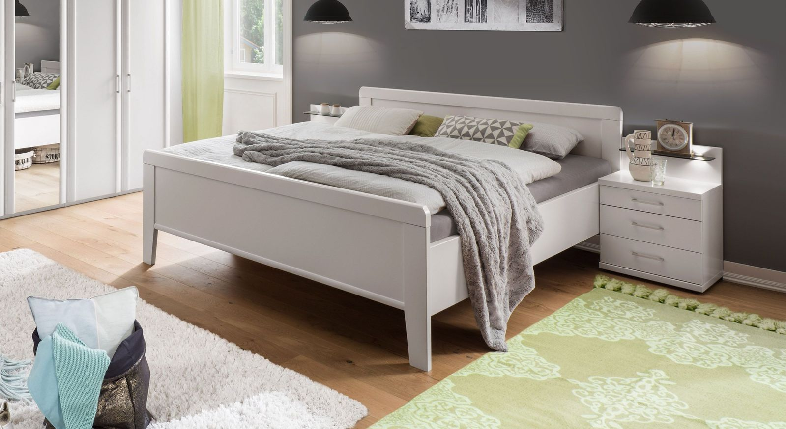 Komfort-Doppelbett Calimera inklusive Kopf- und  Fußteil