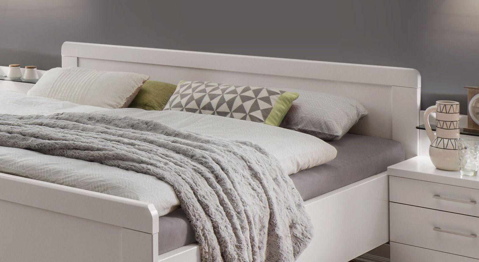 Komfort-Doppelbett Calimera mit schlichtem Kopfteil