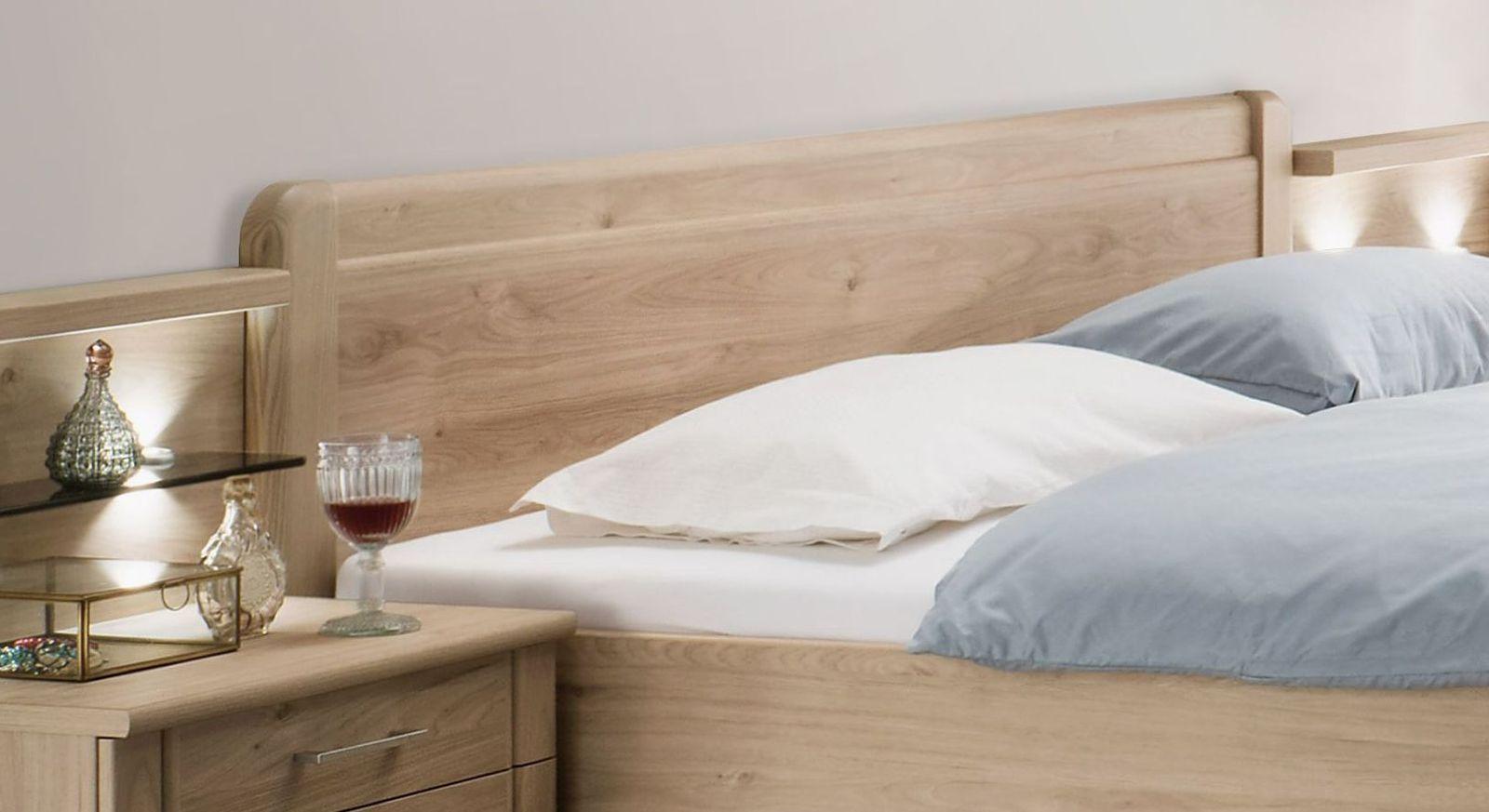 Komfort-Doppelbett Telford mit gerundetem Kopfteil