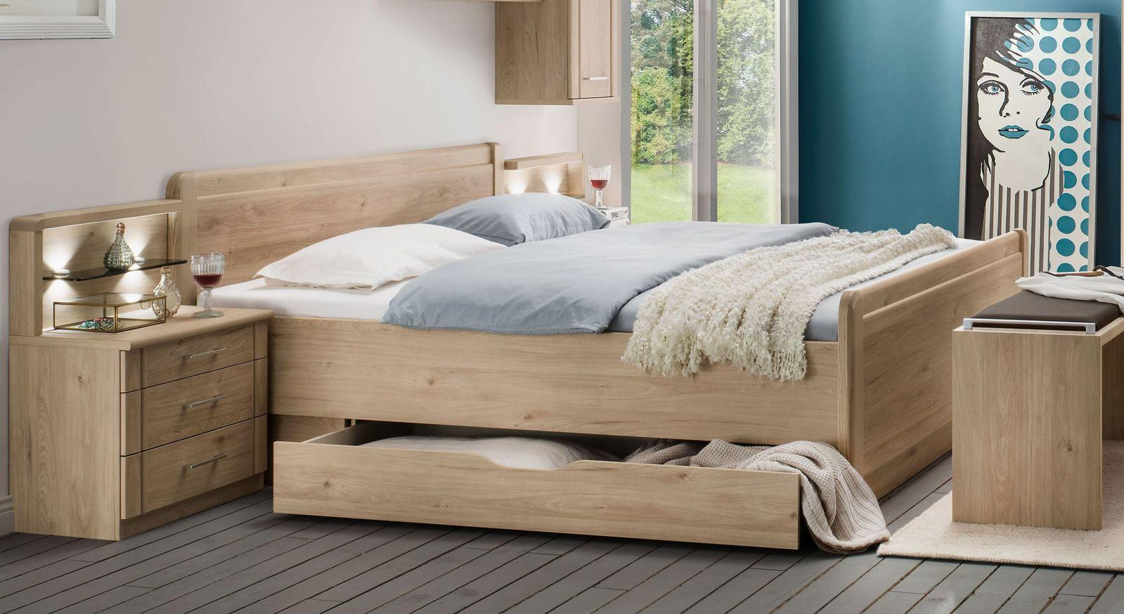 Komfort-Doppelbett Telford mit großem Schubkasten