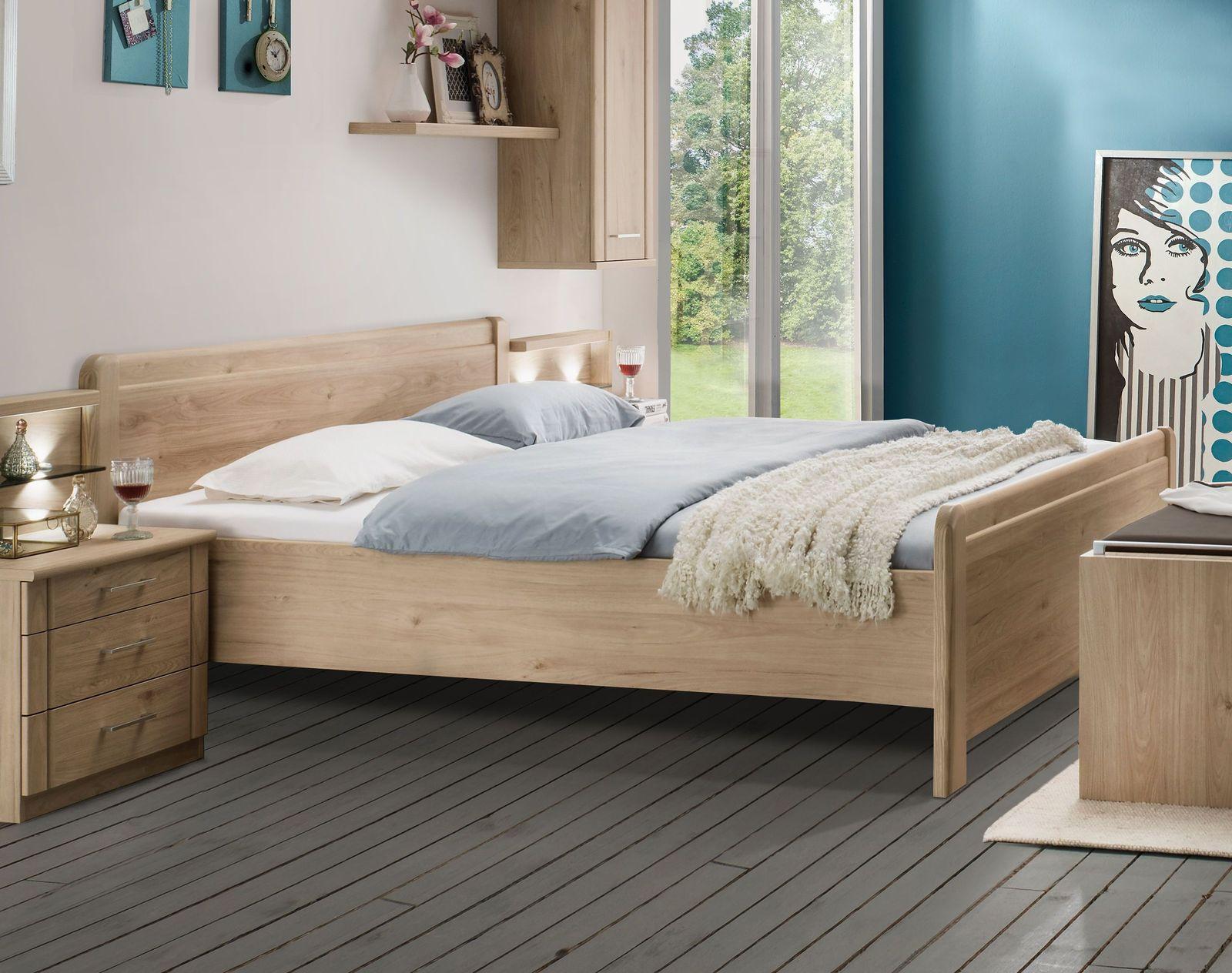 komfort doppelbett steineiche dekor z b mit schubk sten telford. Black Bedroom Furniture Sets. Home Design Ideas