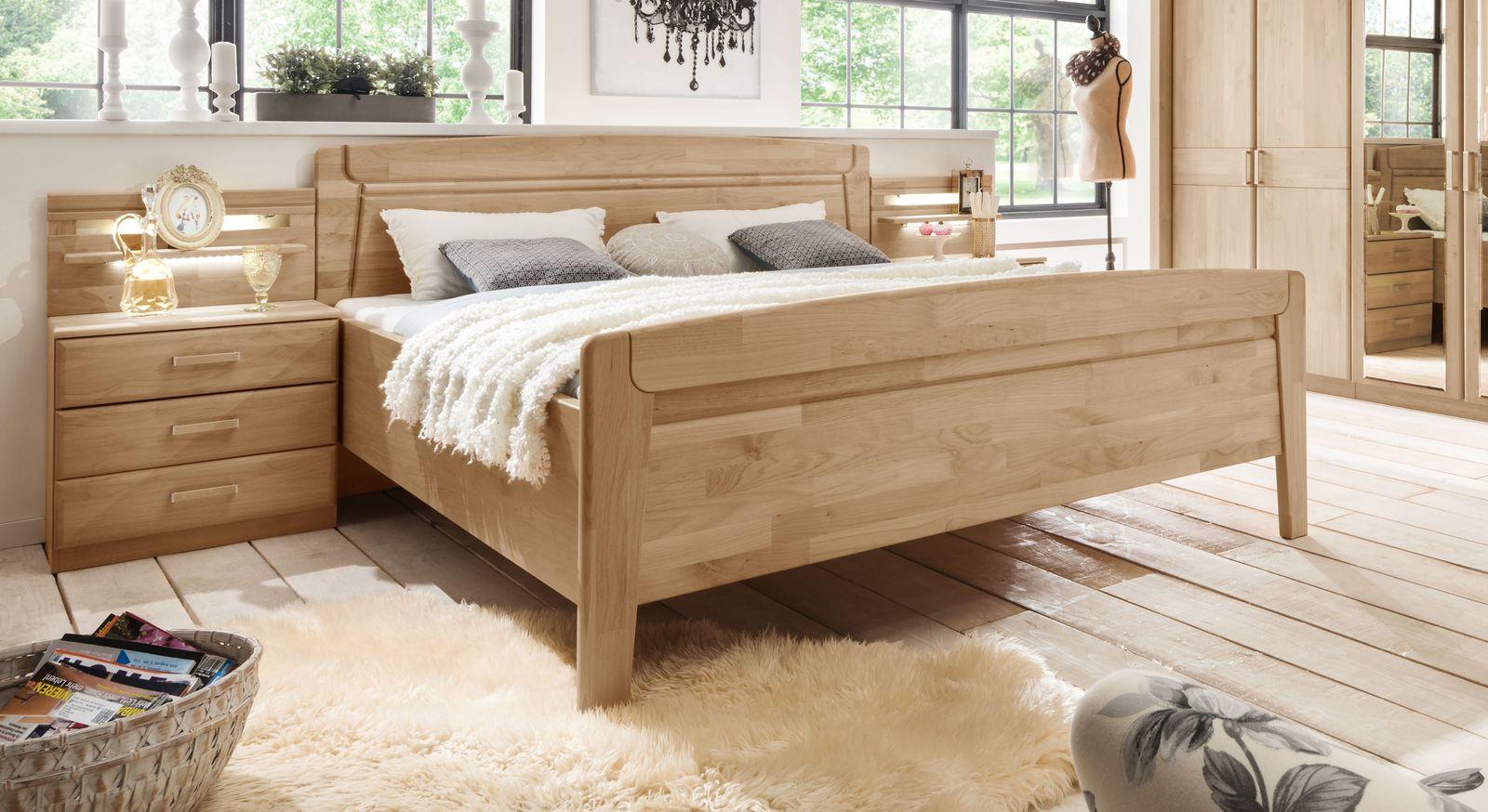 Robustes Komfort-Doppelbett Temara ohne Bettschubkasten