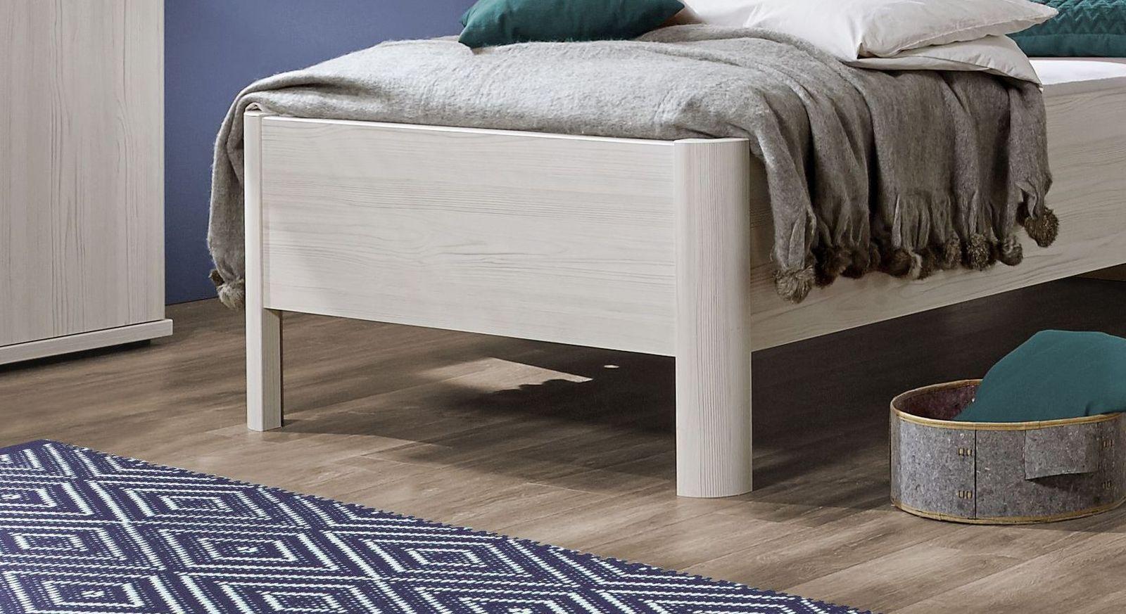 Komfort-Einzelbett Apolda mit abgerundeten Bettbeinen