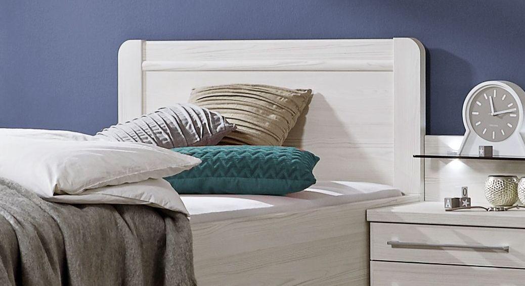 Komfort-Einzelbett Apolda mit schlichtem Kopfteil