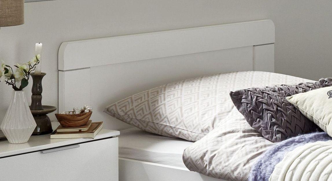 Komfort-Einzelbett Aradeo inklusive weißem Kopfteil