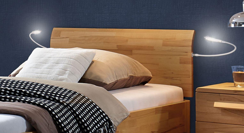 Komfort-Einzelbett Baleira mit gebogenem Kopfteil
