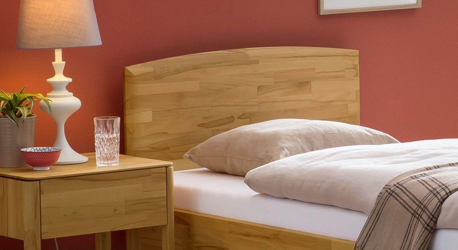Komfort-Einzelbett Brunon mit Holz-Kopfteil