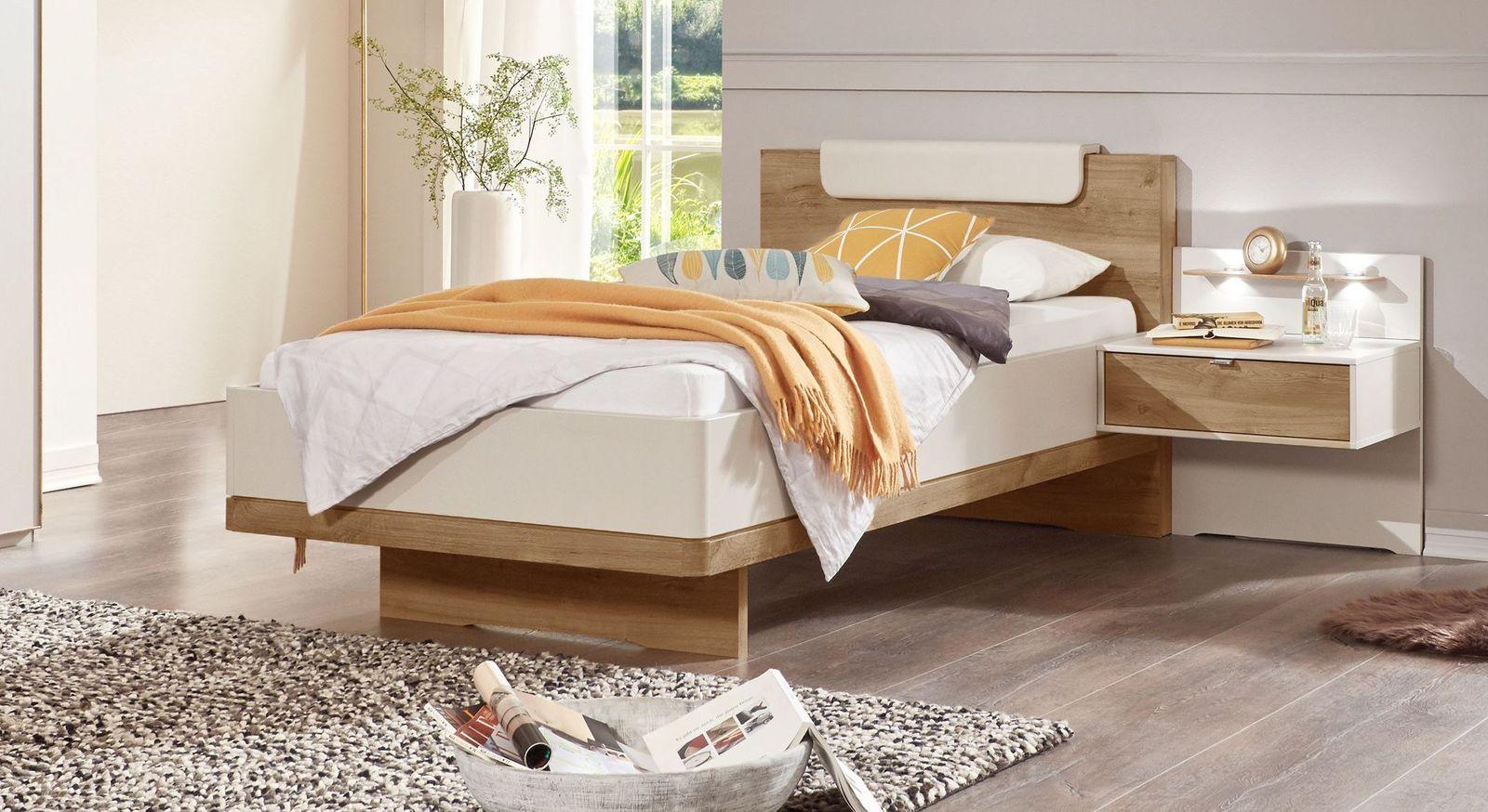 Komfort-Einzelbett Dolavon mit Kopfteilpolster