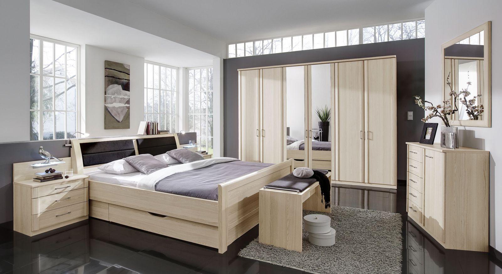 Preiswertes Komplett-Zimmer Rapino mit Komfort-Schubkasten-Bett