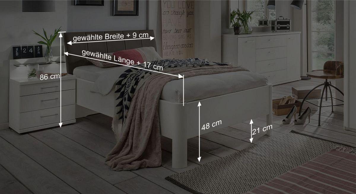 Be,aßungsgrafik zum Komfortbett Castelli