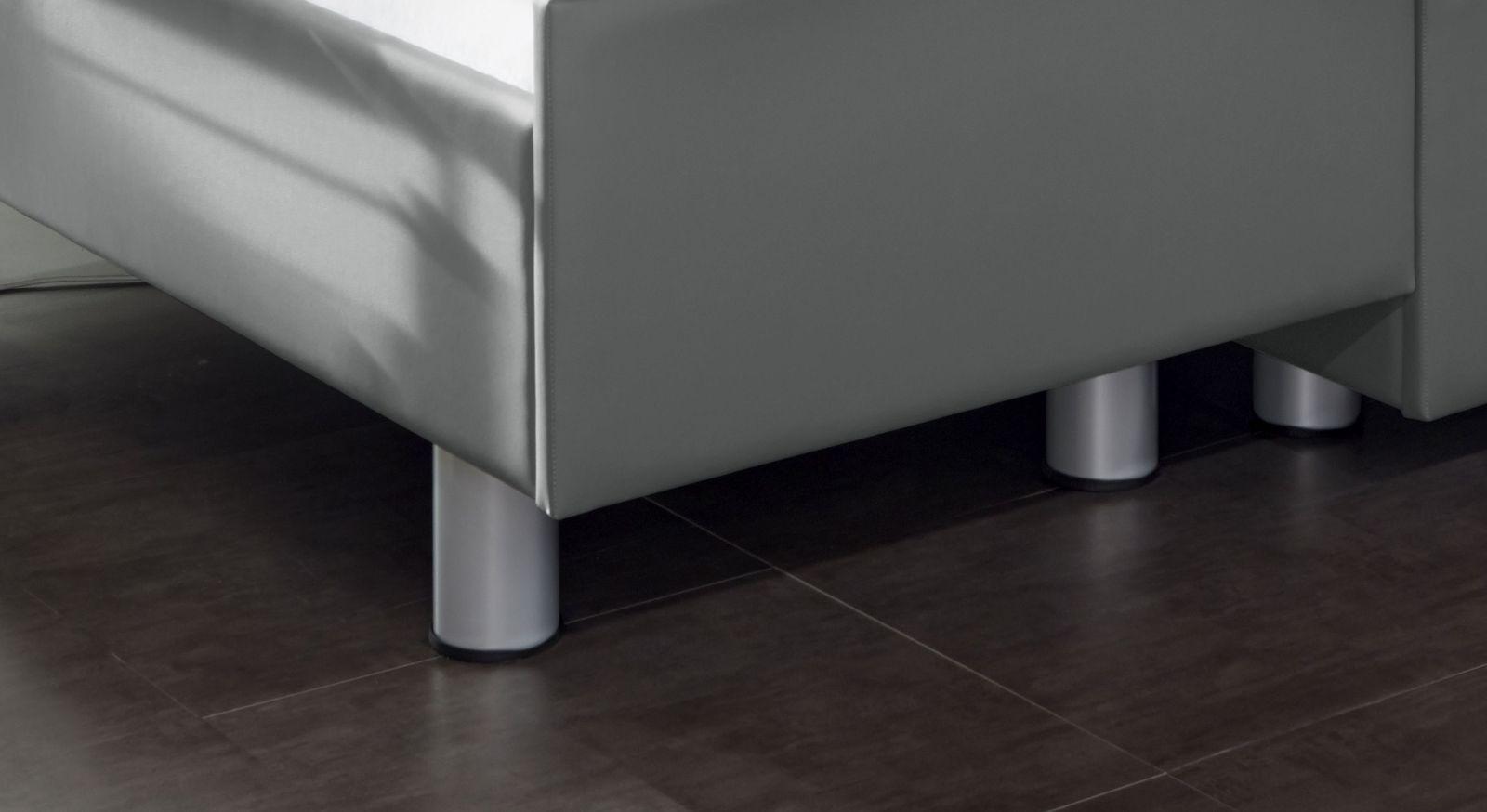 Stabiles Komfortbett mit Pflegebett Funktion Fulda mit zylinderförmigen Metallfüßen