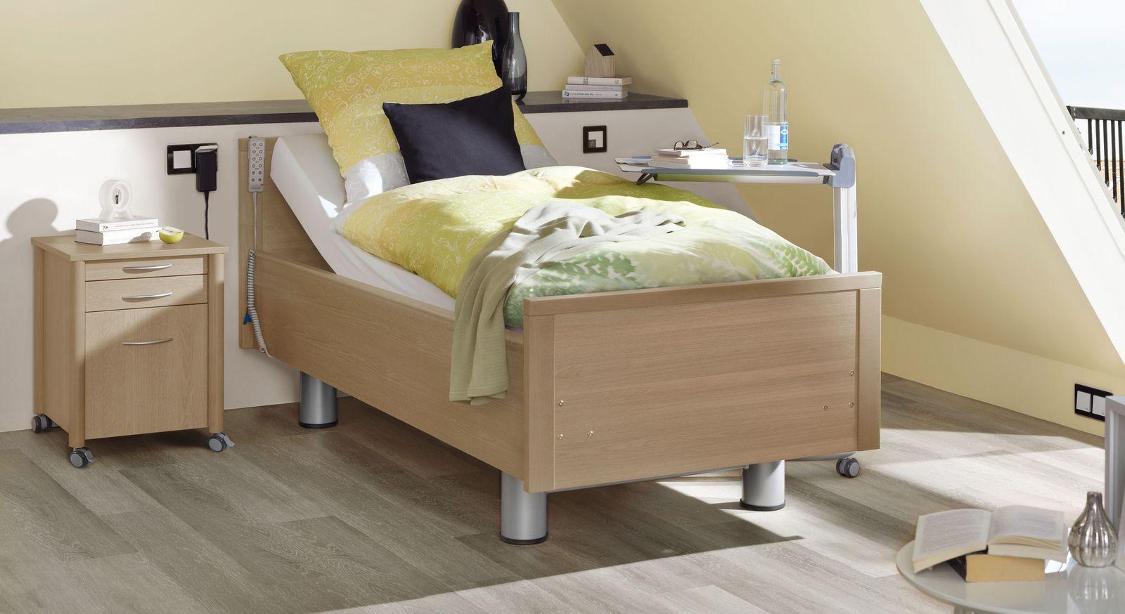 Komfortbett mit Pflegebett-Funktion Isar in Kirschbaum Dekor
