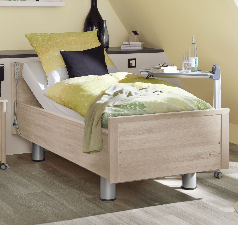 einzel komfortbett holznachbildung mit pflegebett funktion isar. Black Bedroom Furniture Sets. Home Design Ideas
