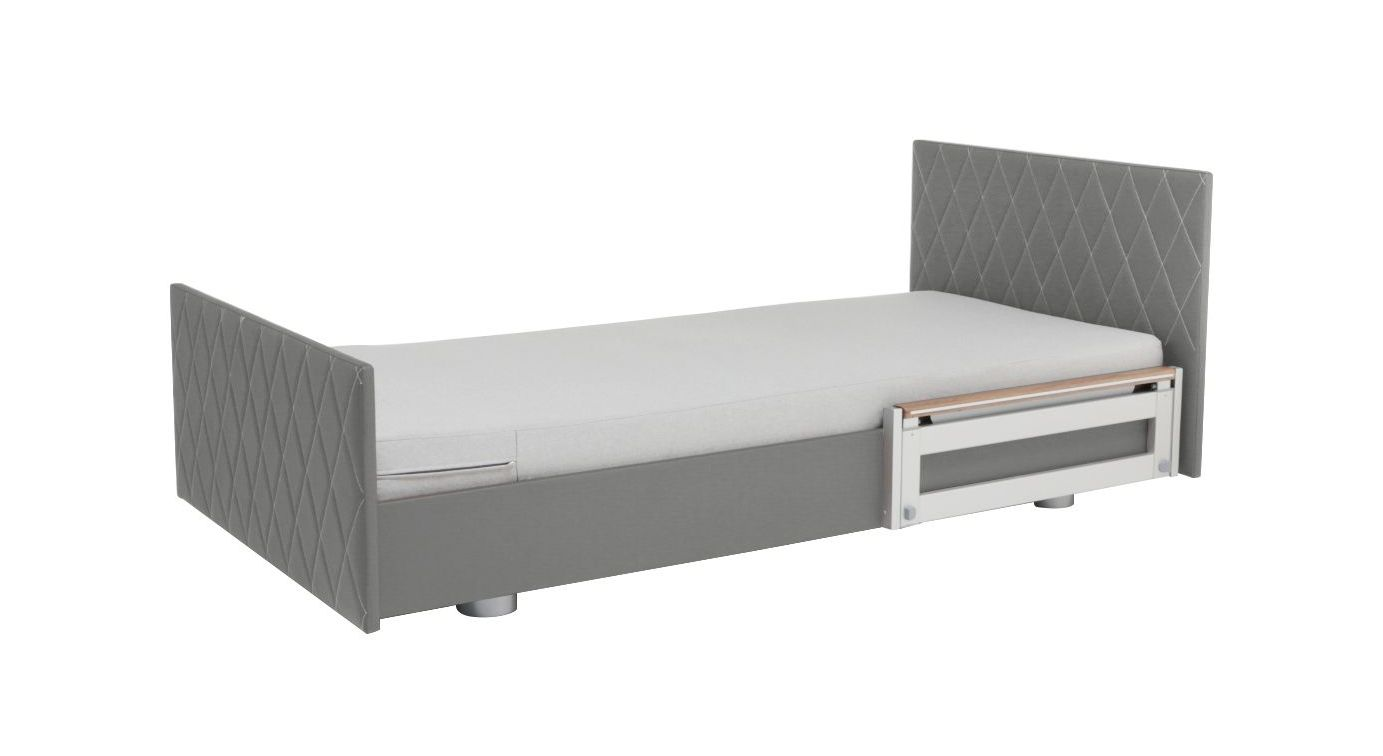 Komfortbett mit Pflegebett-Funktion in niedriger Position