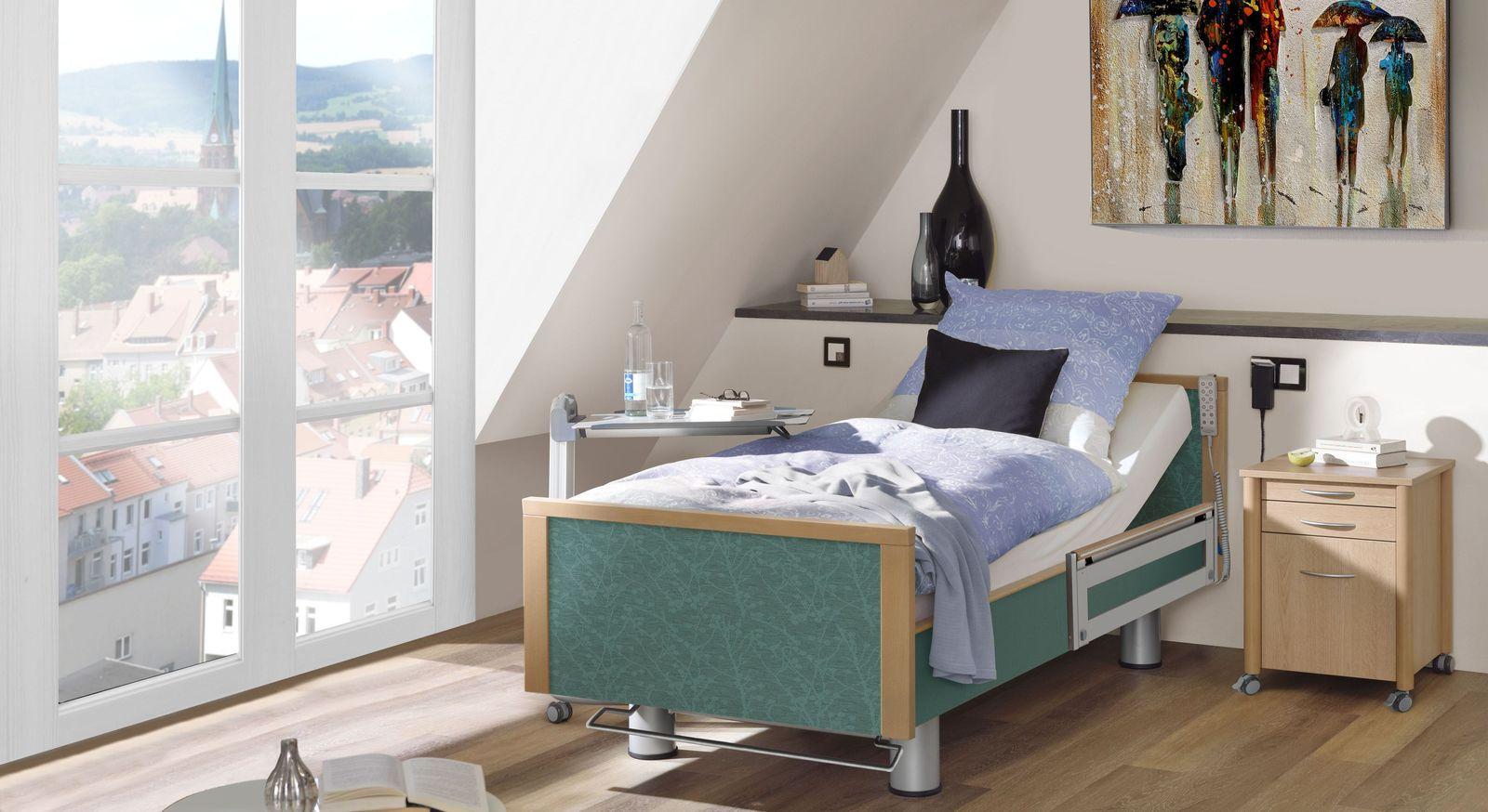 Komfortbett mit Pflegebett-Funktion Sylt mit passenden Produkte