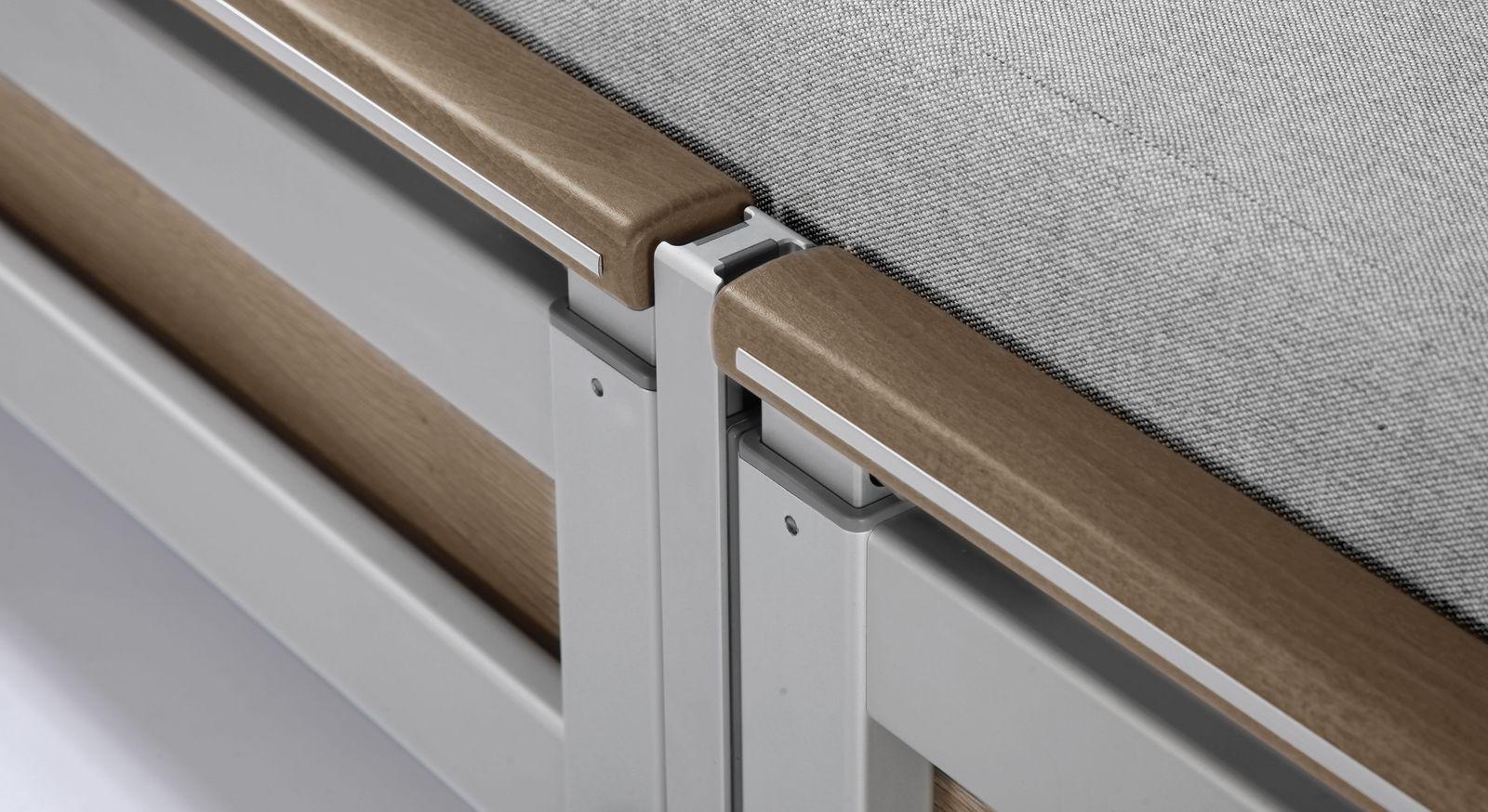 Komfortbett mit Pflegebett-Funktion Usedom mit leicht verstellbaren Seitengittern