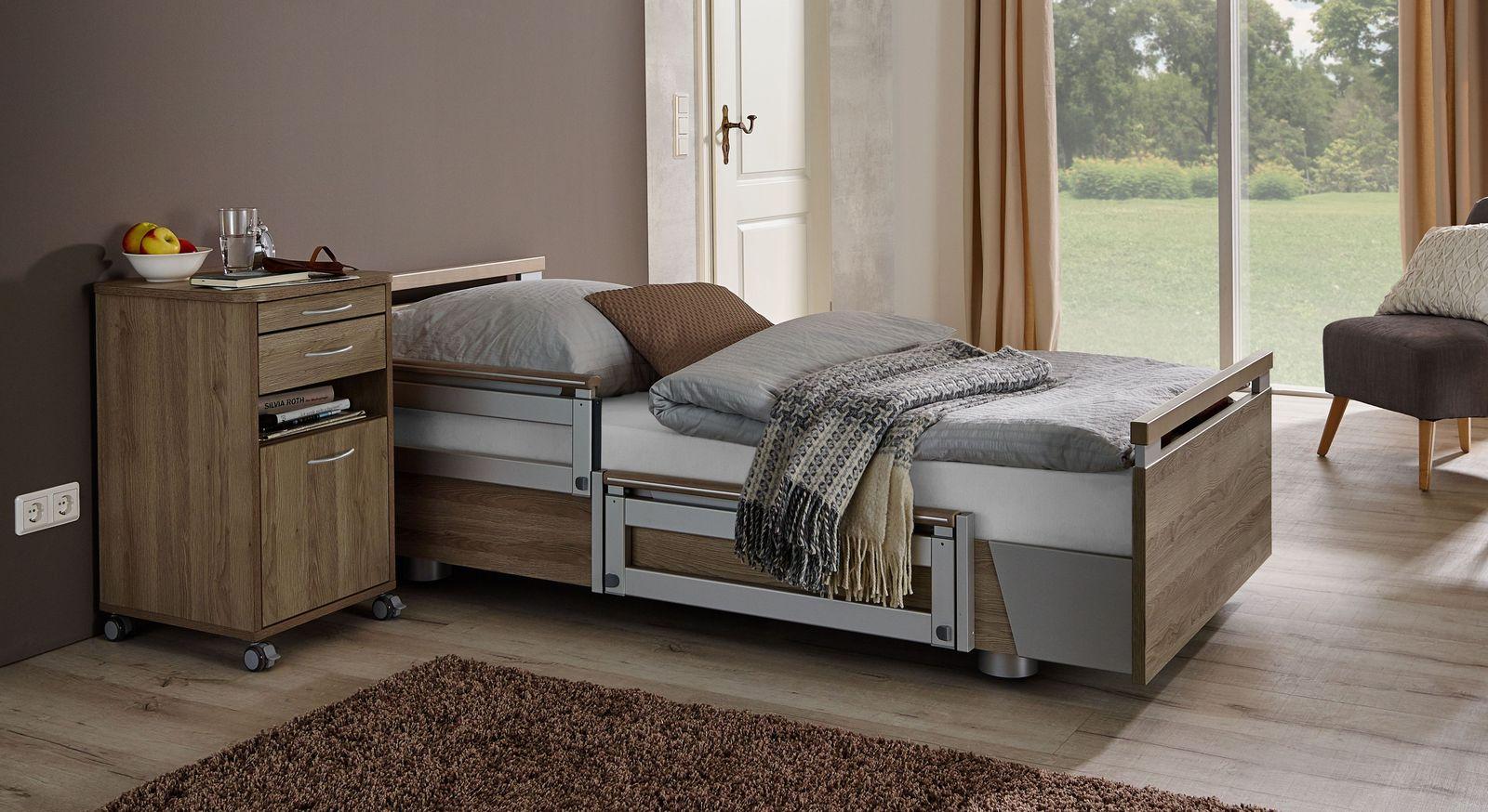 Komfortbett mit Pflegebett-Funktion Usedom mit stufenloser Verstellung per Fernbedienung