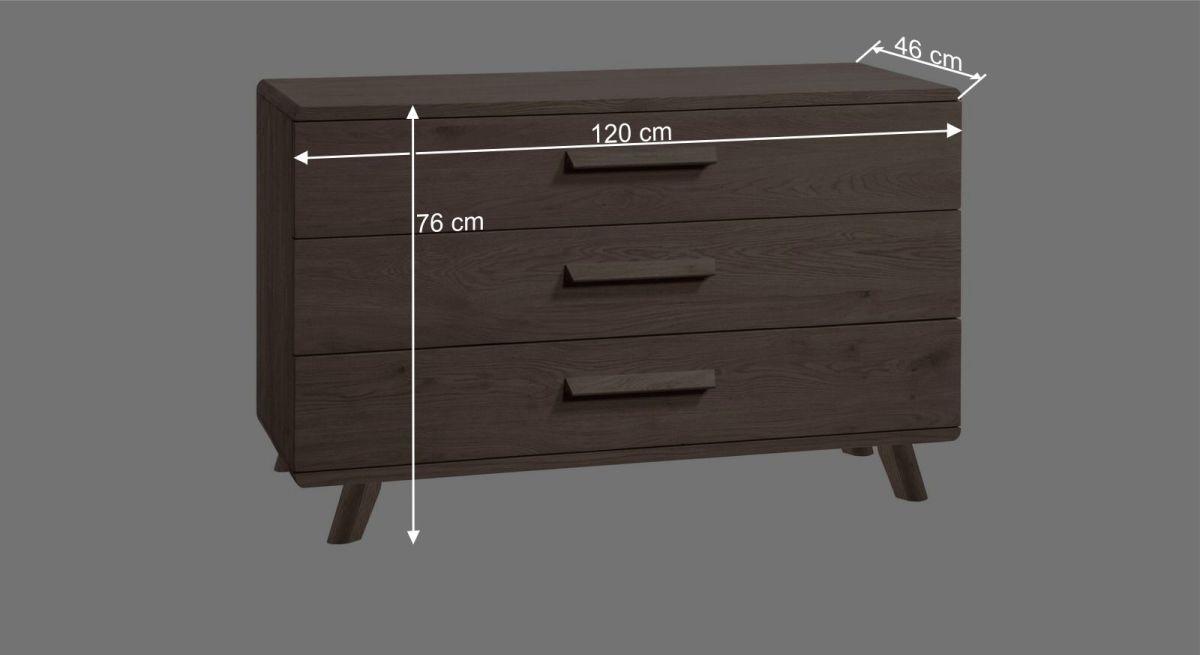 Bemaßungsgrafik zur Kommode Oriane 10 cm Füße