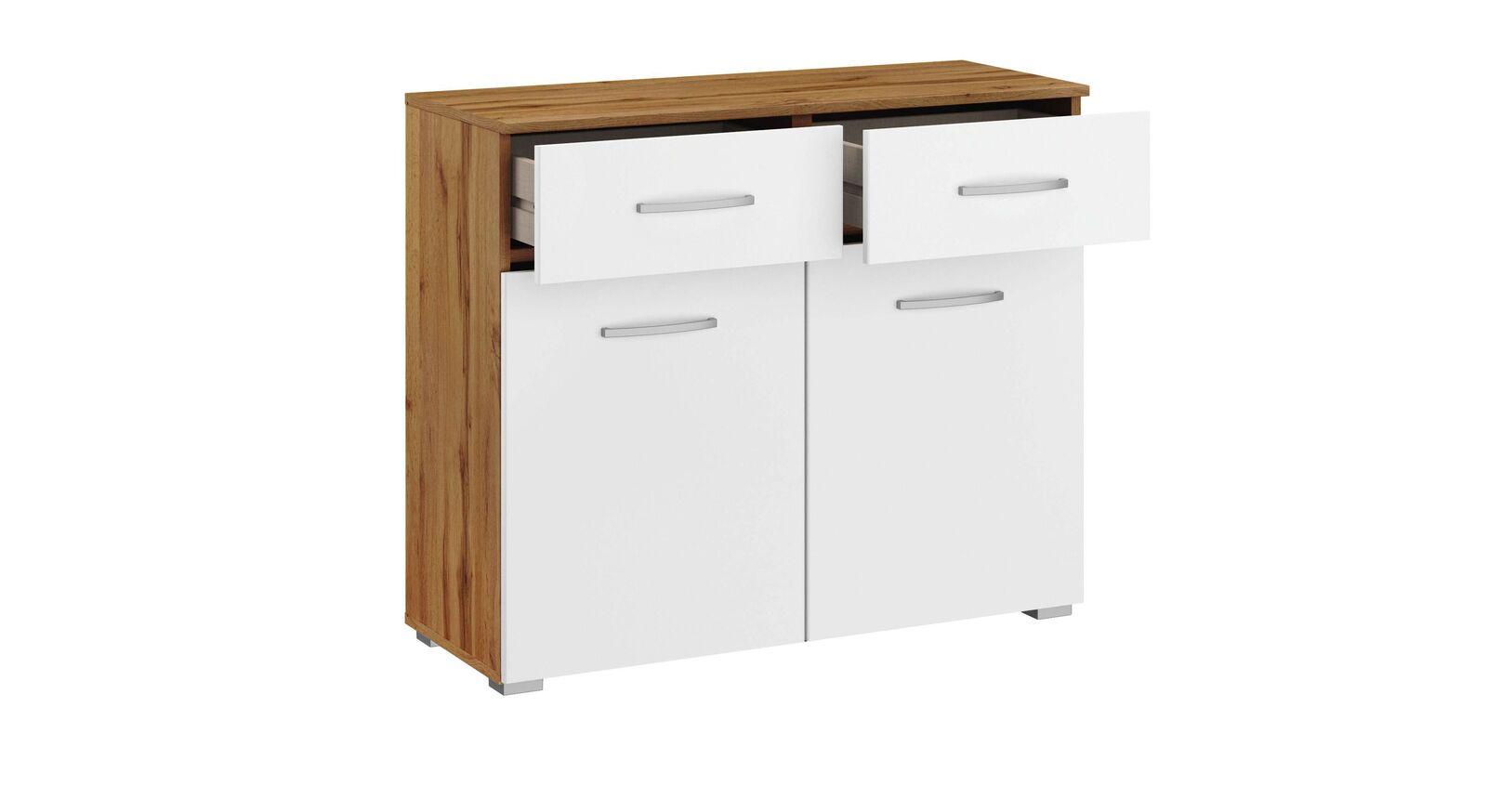 Kommode Sedina mit 2 Türen und praktischen Schubladen