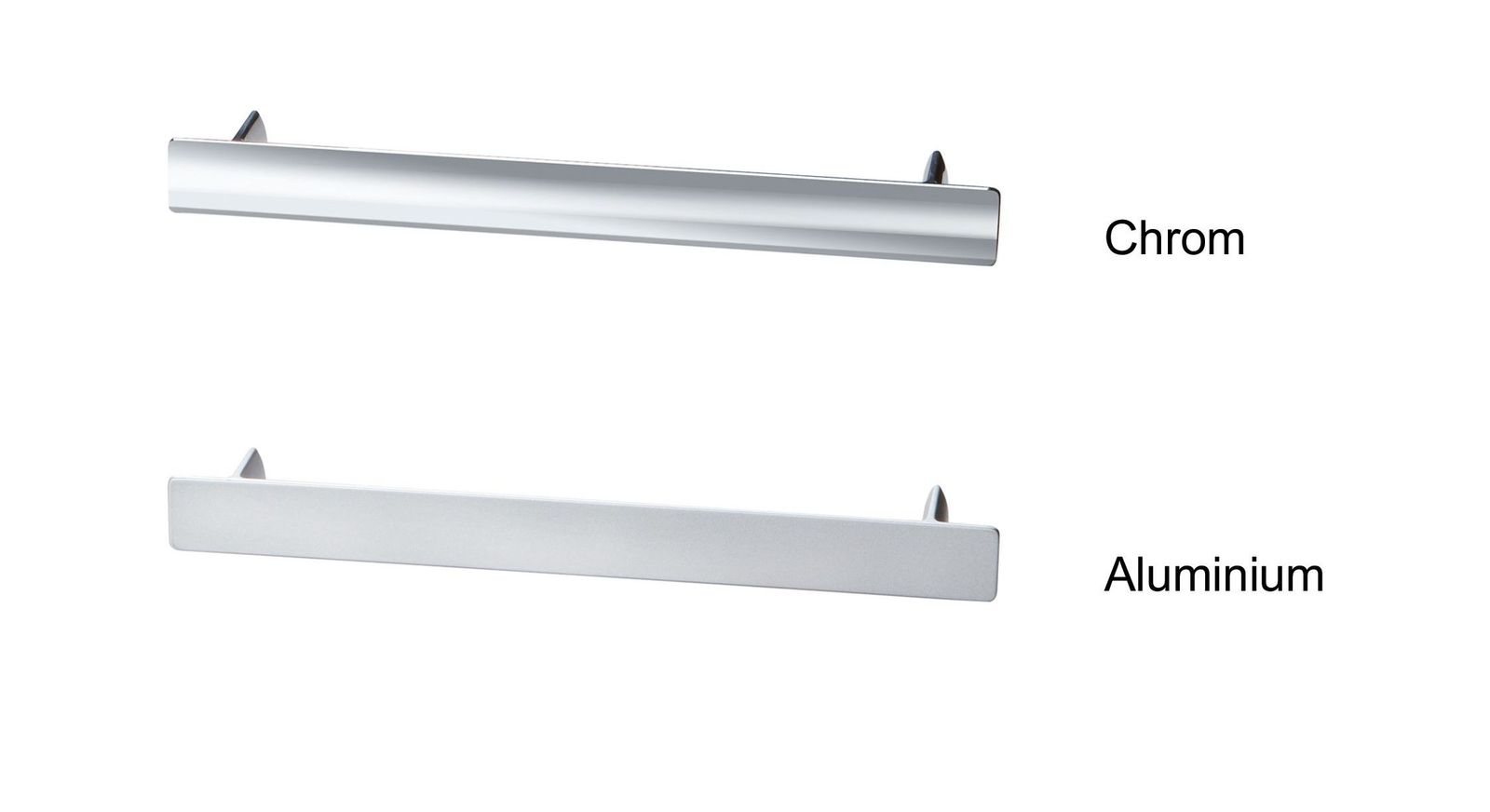 Übersicht der Kommodengriffe in Chrom und Aluminium