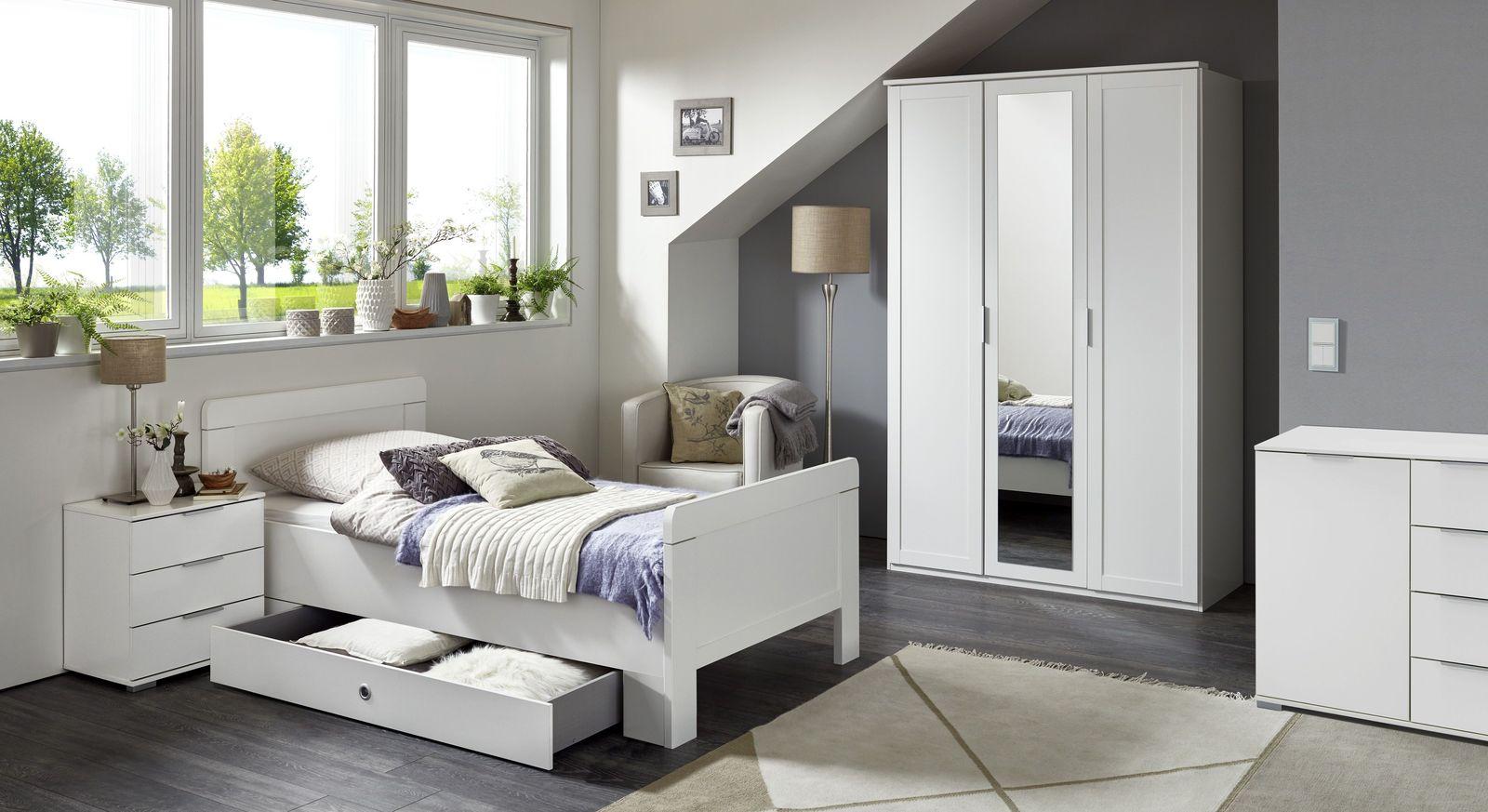 Komplett-Schlafzimmer Aradeo mit Drehtüren-Kleiderschrank