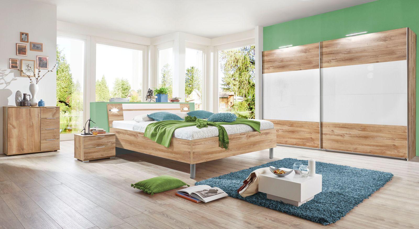 Komplett-Schlafzimmer Bakio in Plankeneiche Dekor