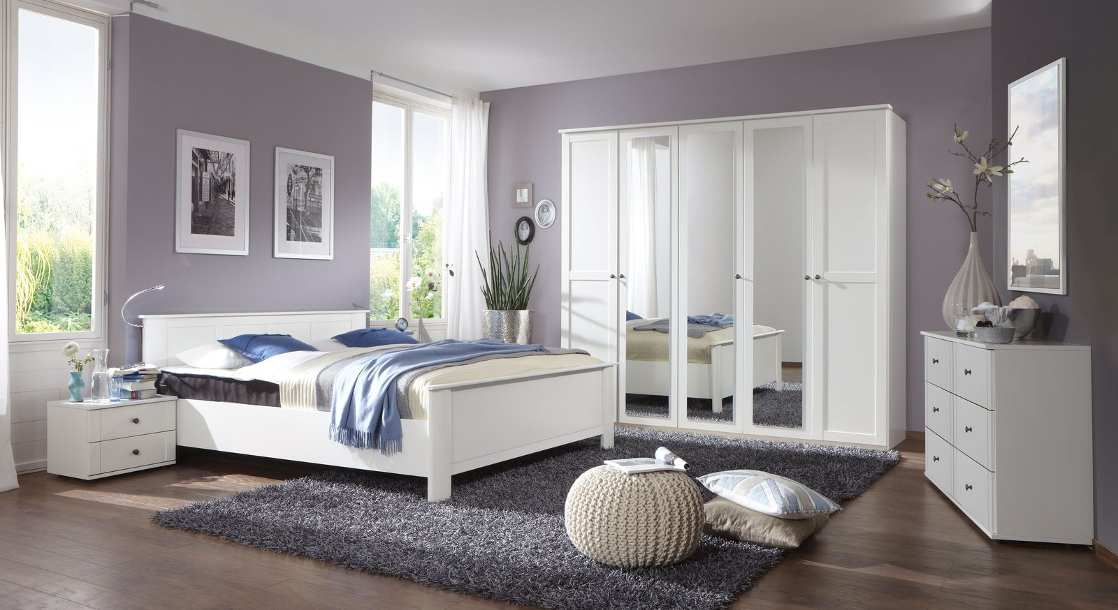 g nstiges schlafzimmer komplett mit bett und schrank berata. Black Bedroom Furniture Sets. Home Design Ideas