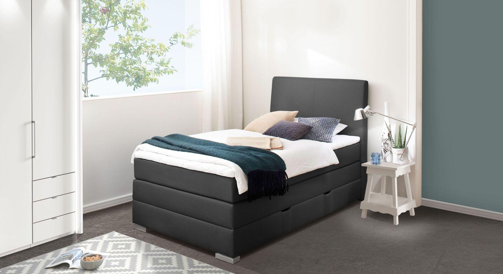 Single-Schlafzimmer modern mit Bettkasten-Boxspringbett - Ivetta