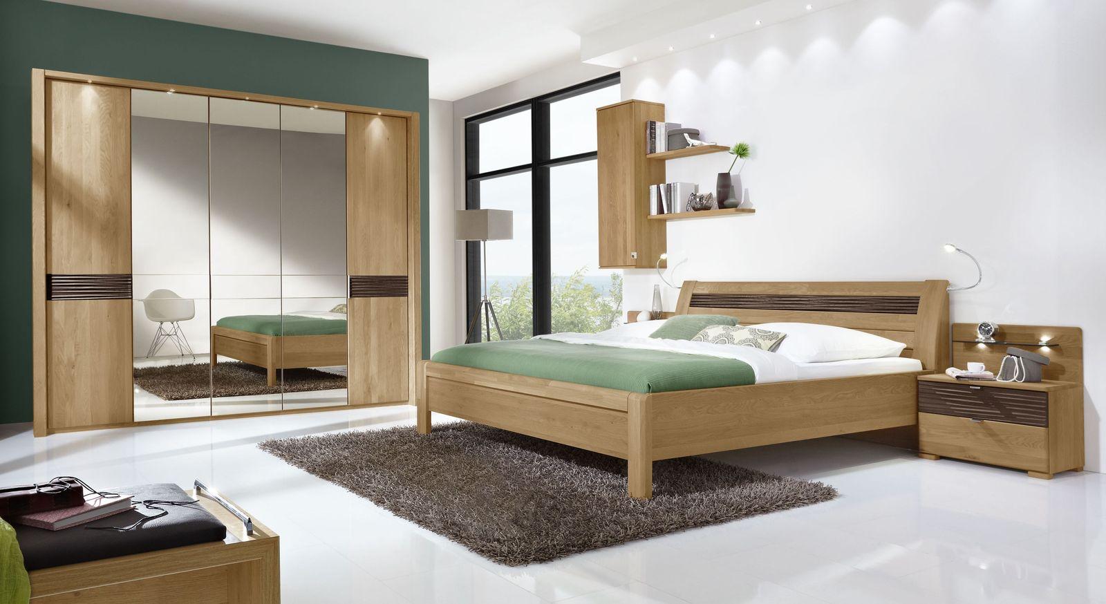 Komplett-Schlafzimmer Burbia mit durchdachtem Möbelkonzept