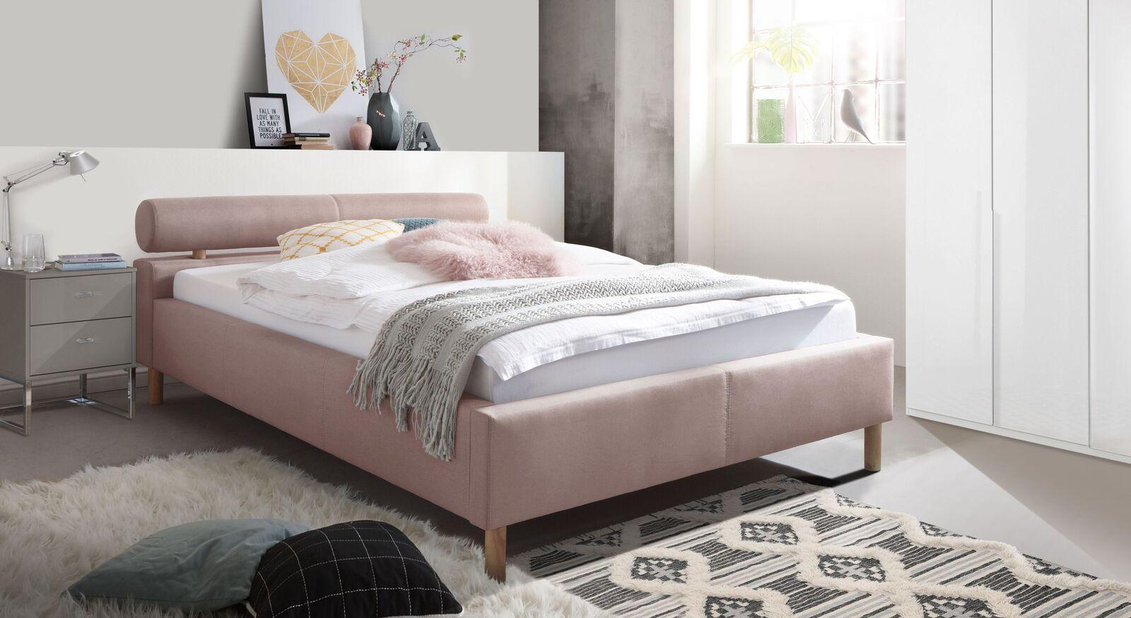 Modernes Komplett-Schlafzimmer Dorado mit Webstoffbett