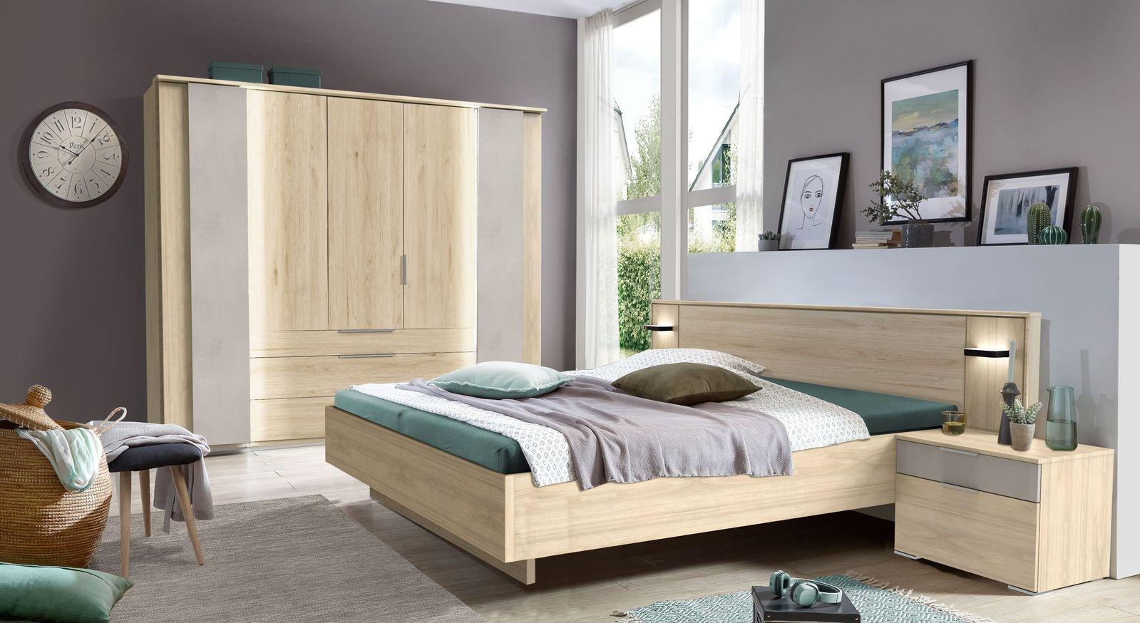 Komplett-Schlafzimmer Hayward in Hickory-Oak Nachbildung