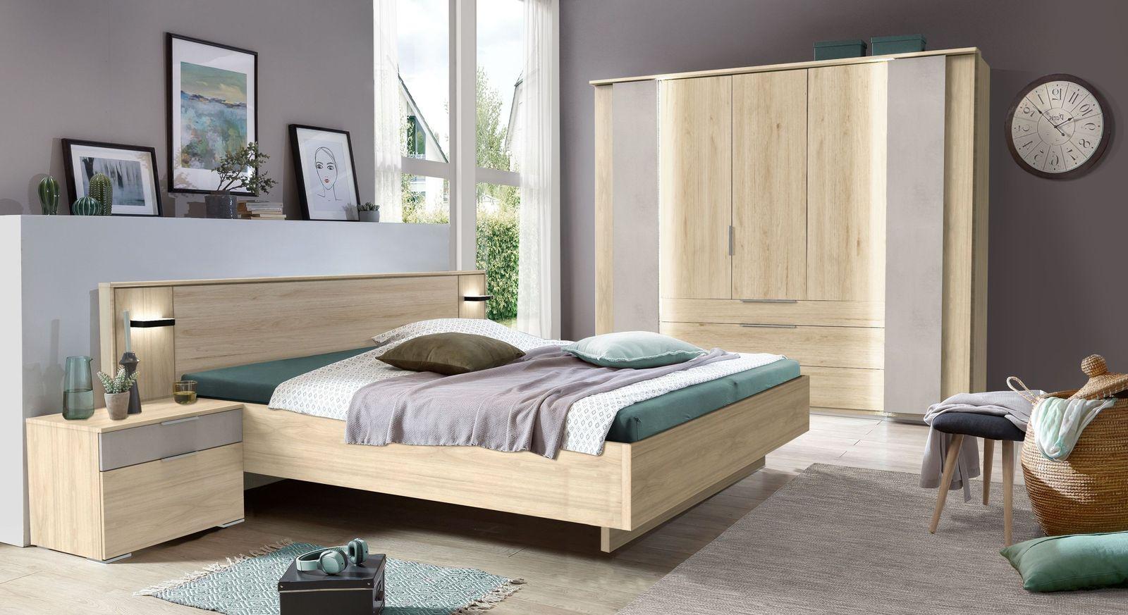 Komplett-Schlafzimmer Hayward in stilvoller Optik