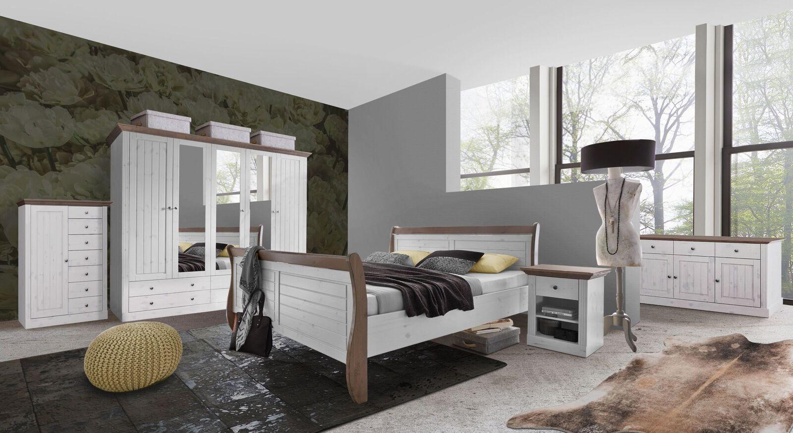 Rustikales Komplett-Schlafzimmer Himal