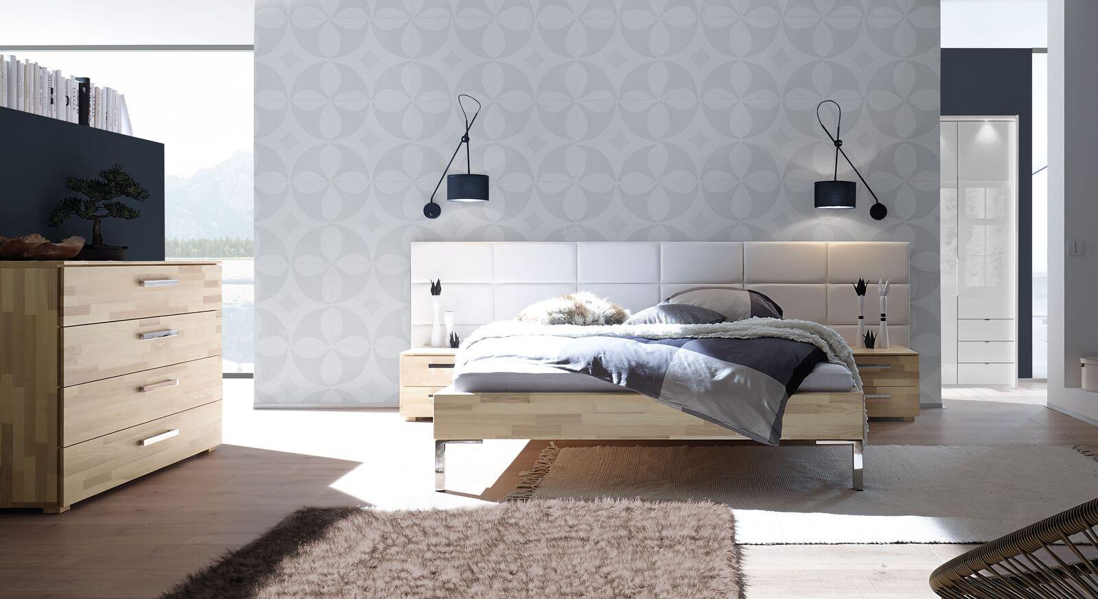 Komplett-Schlafzimmer Kaspars aus heller Kernesche