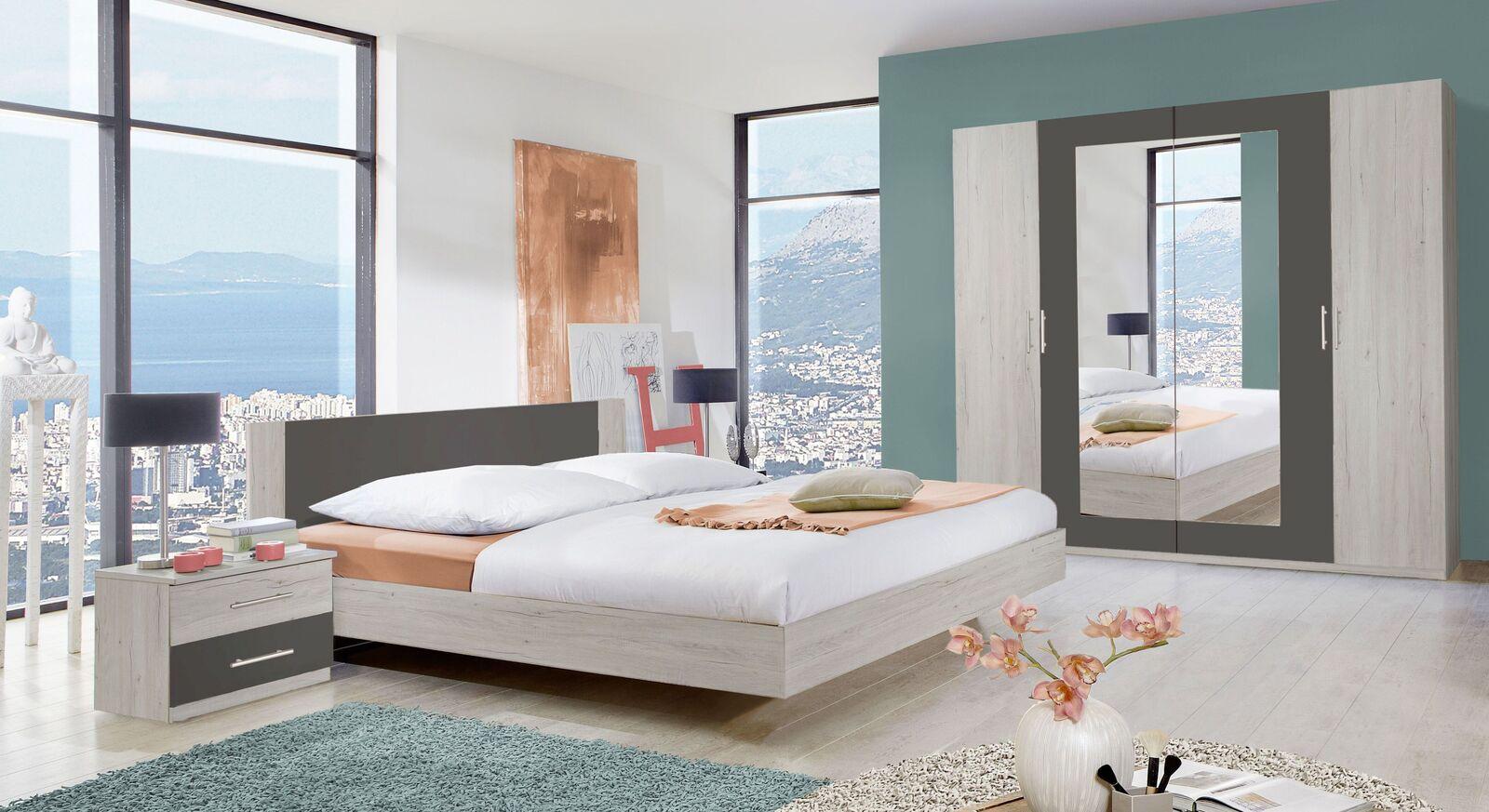 Komplett-Schlafzimmer Kemere im geradlingem Design