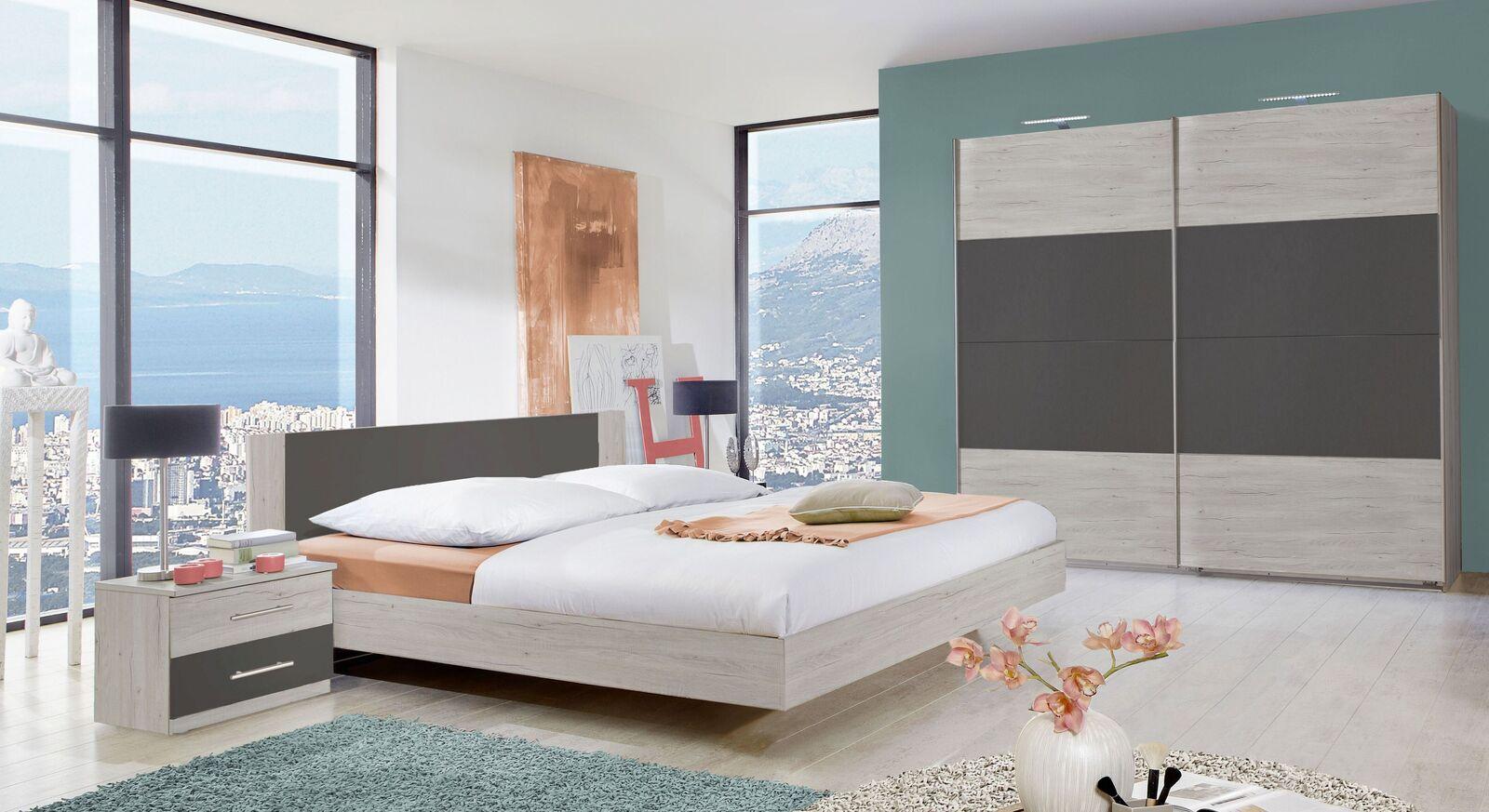 Komplett-Schlafzimmer Kemere mit passenden Möbeln