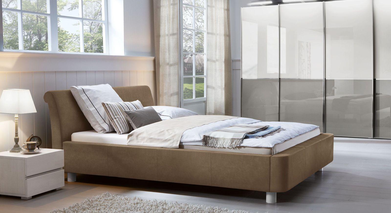 Komplett-Schlafzimmer Macuma mit bequemem Polsterbett