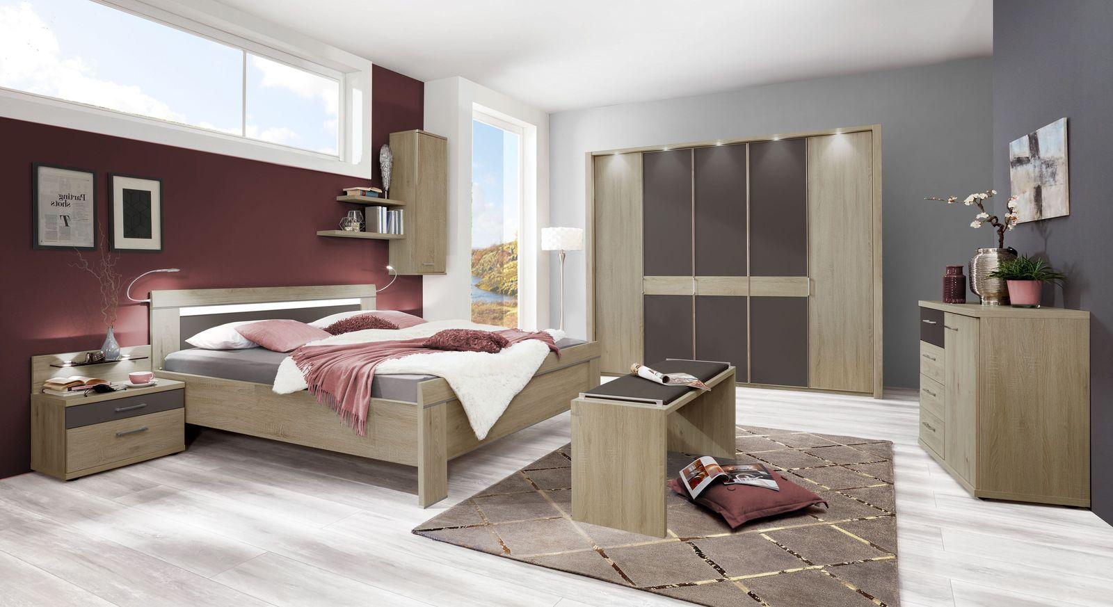 Komplett-Schlafzimmer Mallow in zeitloser Optik