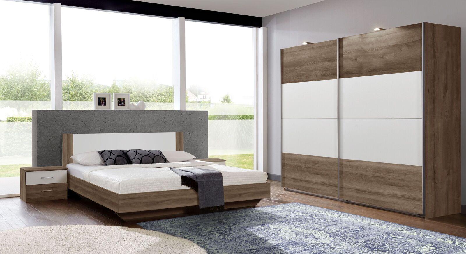 Komplett-Schlafzimmer Mandola mit passenden Möbeln