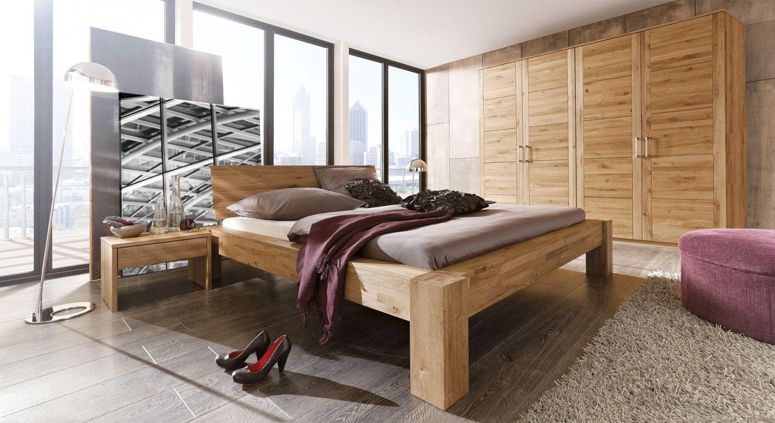 Komplett-Schlafzimmer aus Wildeiche natur - Marsala