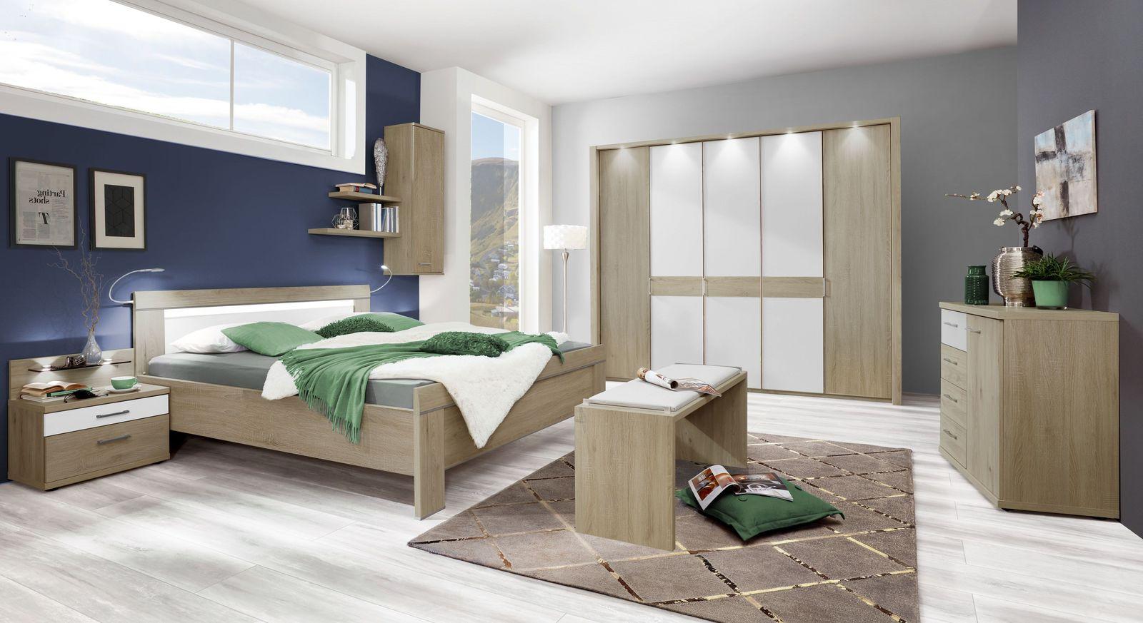 Komplett-Schlafzimmer Milltown in Eiche sägerau Dekor